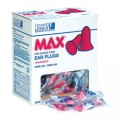 Howard Leight Max Earplugs, Corded, Polybagged 100/box